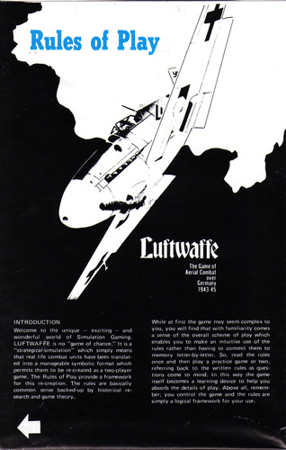 Luftwaffe boardgame by Avalon Hill
