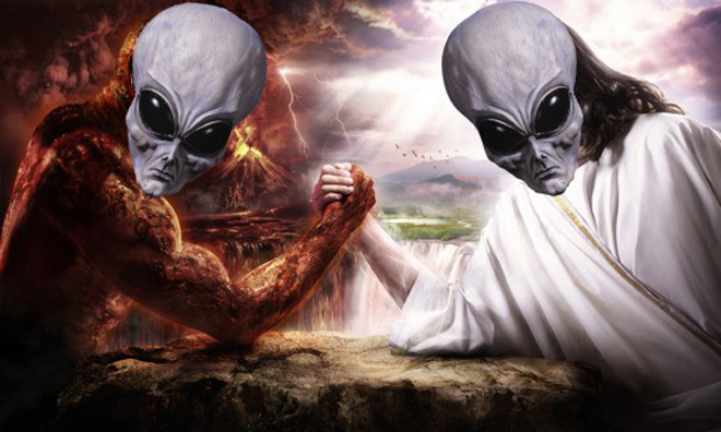 Water Vs Fire Arm Wrestling: The Satan Conspiracy... Satan Is An Alien