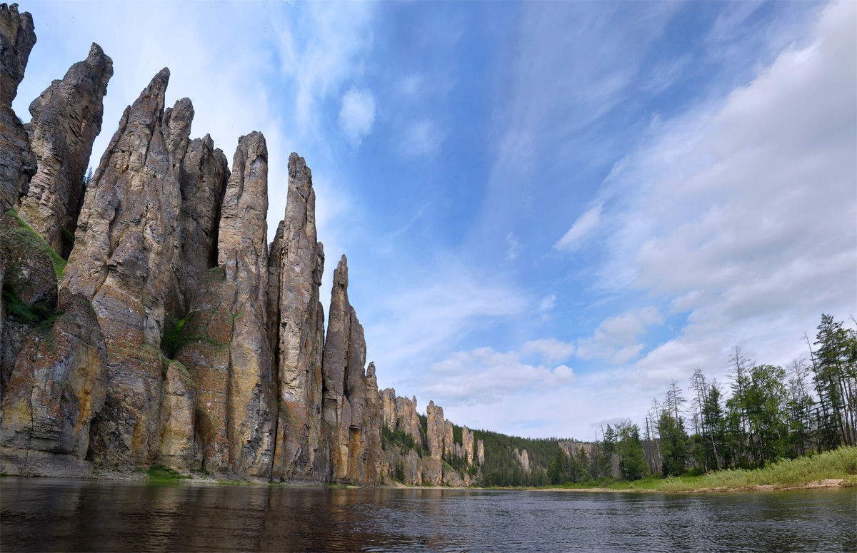 mother nature rules  the lena pillars otherworldly photo