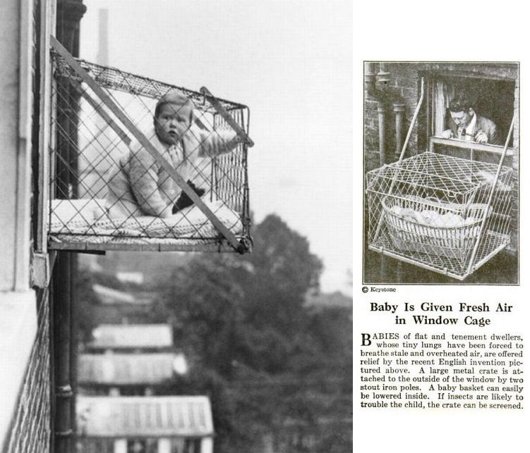 In 1937 The Chelsea Baby Club Distributed Cages To London Mothers They Were No Longer Widely Used During And After Blitz 1940
