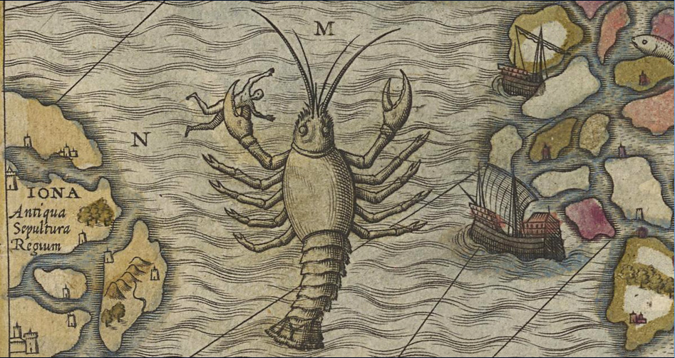 fig  73 olaus magnus 1572 hand colored national library