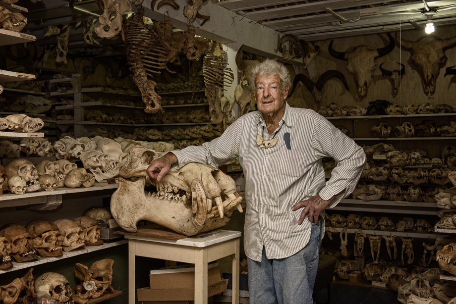 Ray 'Bones' Bandar, a biologist and skull collector died at his home at 90