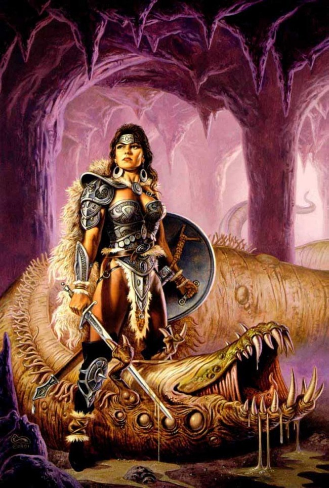 Wurm By Clyde Caldwell