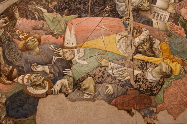 Triumph of Death Wall Painting, ca. 1448, Palazzo Abatellis (detail)