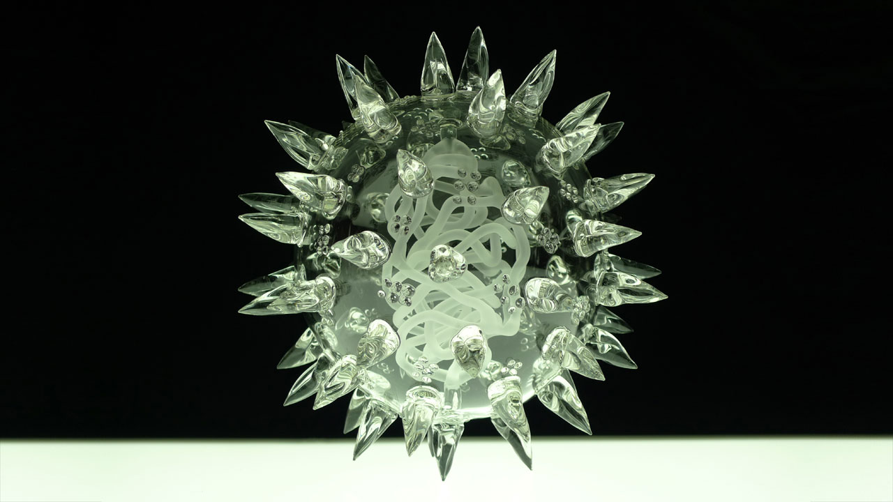 infectious beauty u2026 glass sculptures of viruses