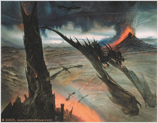 Where the Shadows Lie… John Howe's Tolkien Artwork – CVLT
