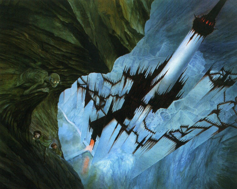 john_howe_middle-earth_the endless stair