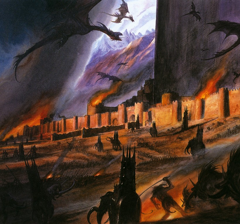 john_howe_middle-earth_the siege of gondor