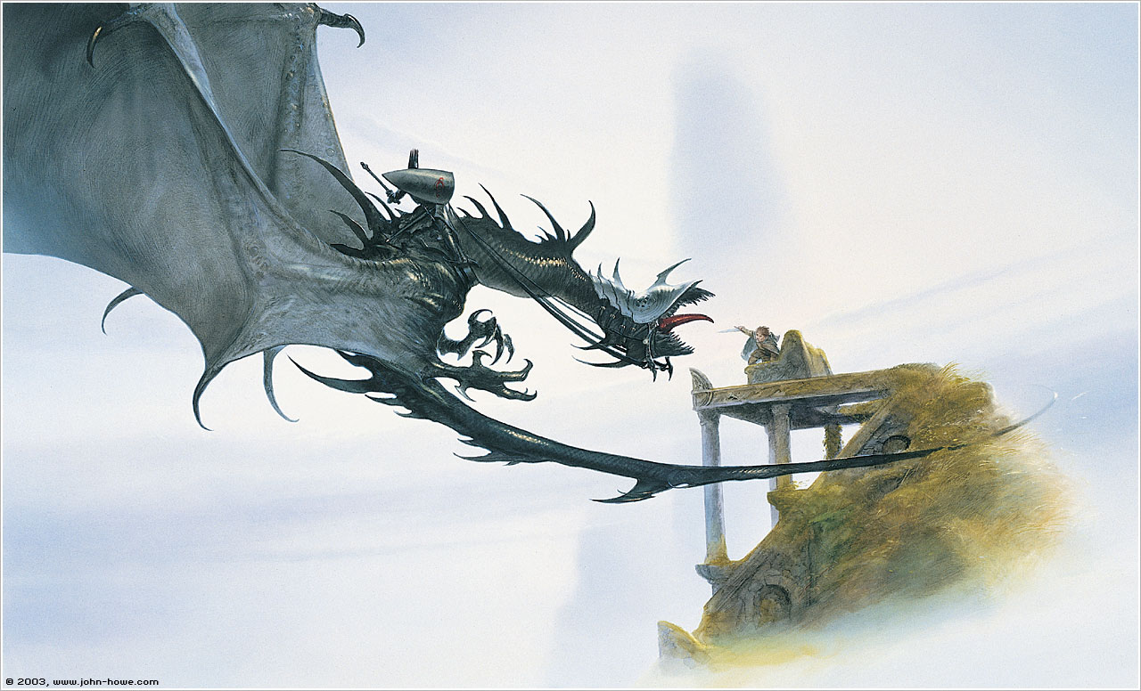 where the shadows lie u2026 john howe u2019s tolkien artwork