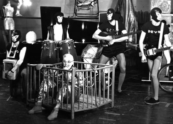 "DEVO: 1st Video LP<br/> ""The Men Who Make the Music"" <br/>Now Showing!"