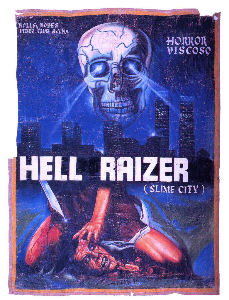 handpainted horror movie posters from ghana