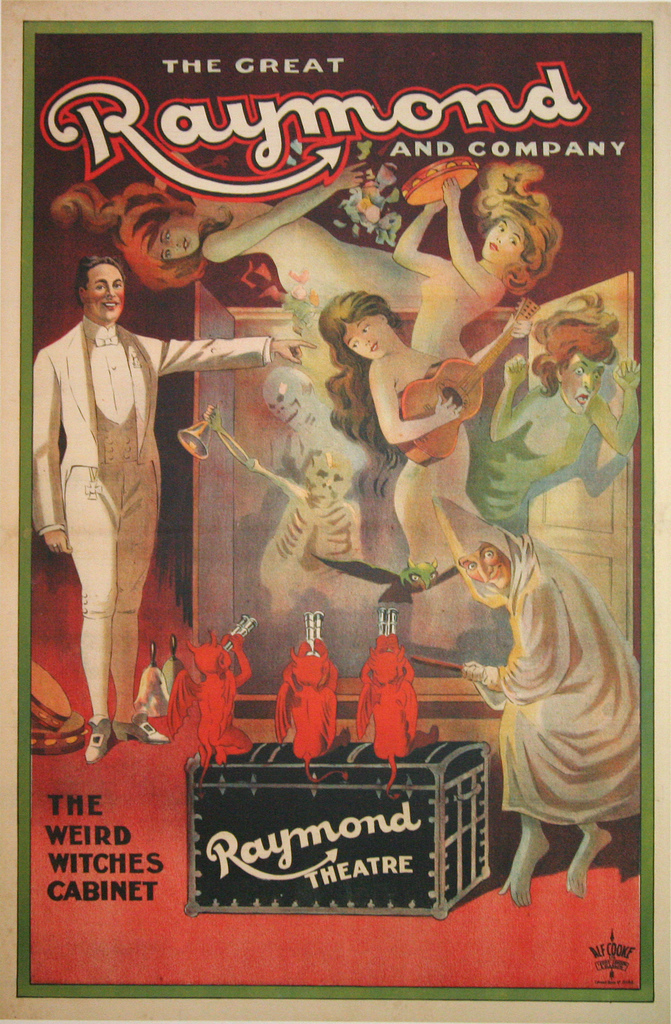 knows sees tells all  vintage magic show posters