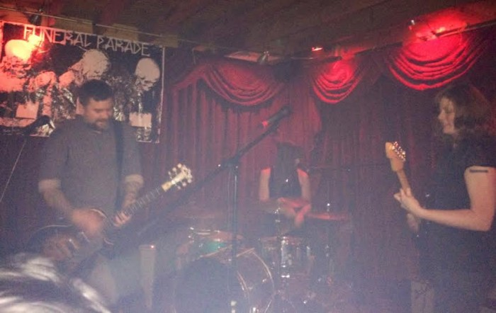 Hex Dispensers live at Funeral Parade in Austin in April, 2014. Photo by author.