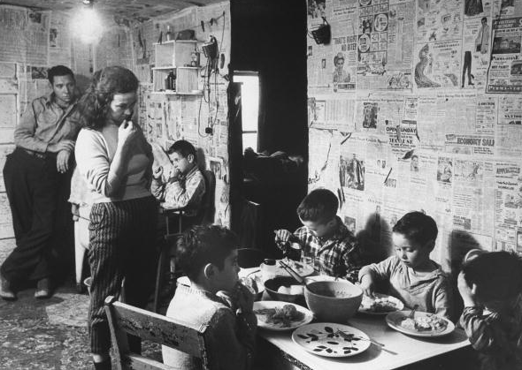 A poverty stricken family in Appalachia 1964