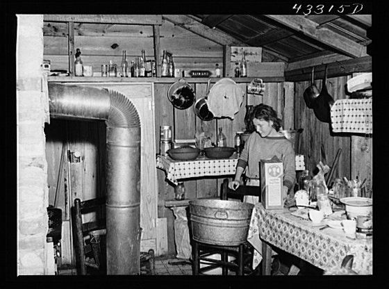 In the second story of a tobacco barn used as living quarters by family of workers from Fort Bragg, North Carolina. Near Fayetteville, North Carolina Creator(s): Delano, Jack, photographer Date Created/Published: 1941 Mar.