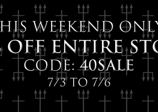 40% OFF Everything at CVLT Nation Store This Weekend Only!