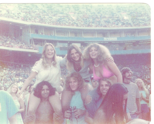 Anaheim,Ca 1975 Chicago,Beach Boys and The Eagles Concert Pam,Wendy,Vicki & Arlene Miller