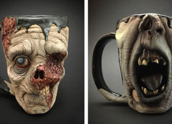 Drinking Black Coffee In A Zombie Mug…