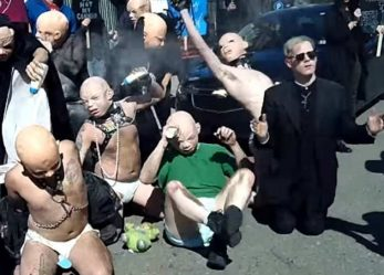 "Satanic Temple Conducts ""Fetish Babies"" Counter-Protest of Anti-Choicers"