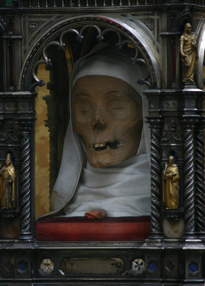 The head of Catherine of Siena