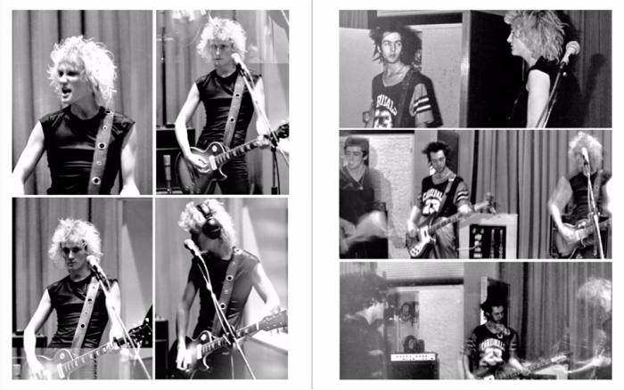 Photos from Killing Joke's October 1979 Peel Session, by Frank Jenkinson.