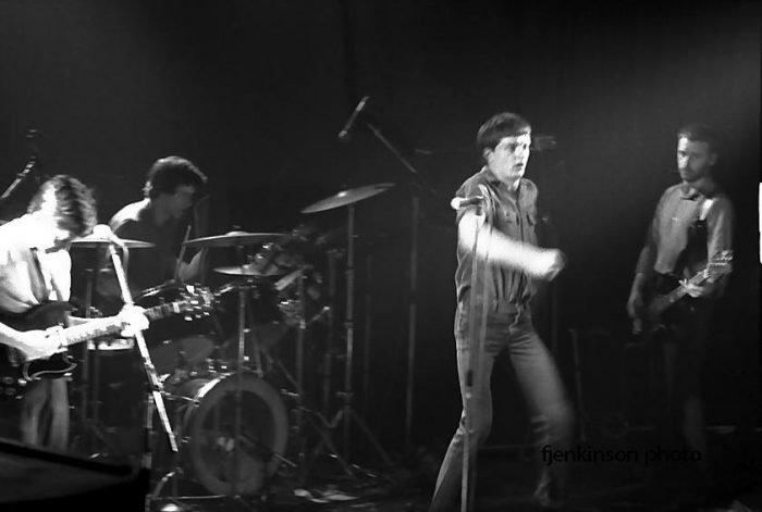 Joy Division at the Lyceum, February 1980. Photo by Frank Jenkinson.
