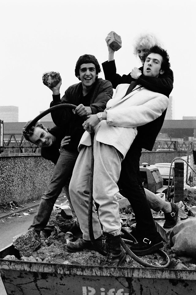 Killing Joke at an abandoned petrol station, by Frank Jenkinson.