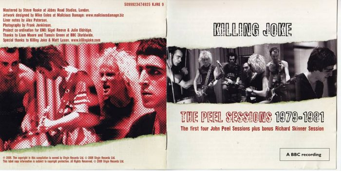 Frank Jenkinson's photos used on the Killing Joke Peel Sessions CD.