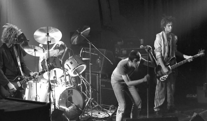 Killing Joke at the Lyceum, February, 1980. Photo by Frank Jenkinson.