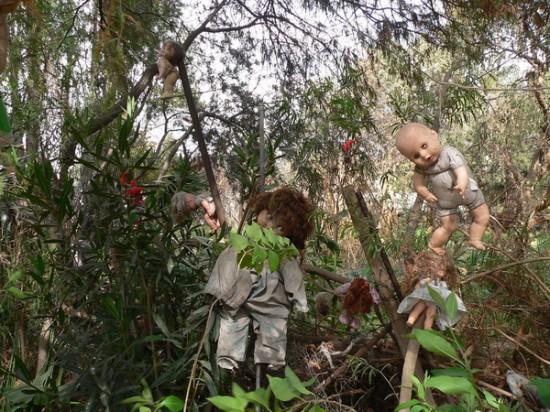 Island of the Dolls hanging around