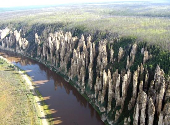 Lena-Pillars-Russia-Yakutsk-from-the-air