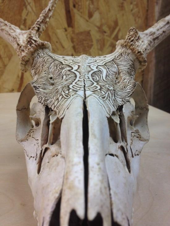 engraved amp inked skulls by peter deligdisch