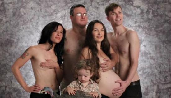 Weird-Odd-Family-Photos-Awkward-Topless