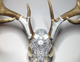 Engraved & Inked Skulls by Peter Deligdisch