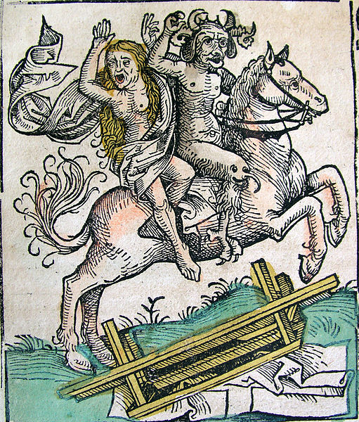 511px-Nuremberg_chronicles_-_Devil_and_Woman_on_Horseback_(CLXXXIXv)