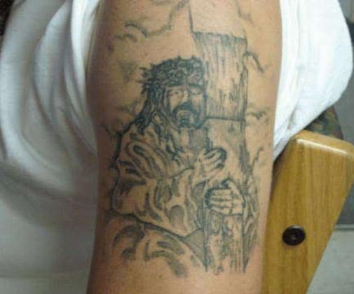 Weird-Bad-Jesus-Tattoo-Complete-Mess