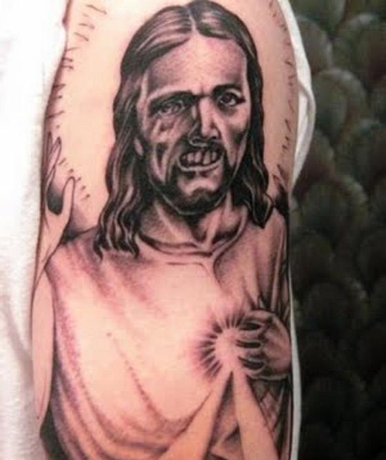 Weird-Bad-Jesus-Tattoo-Deep-South