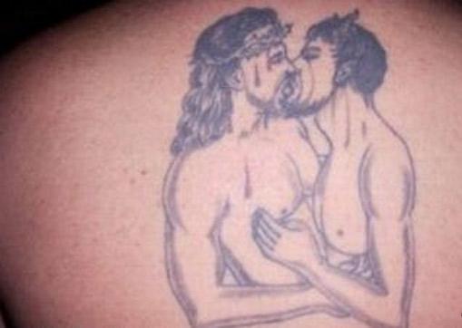 Weird-Bad-Jesus-Tattoo-Homo