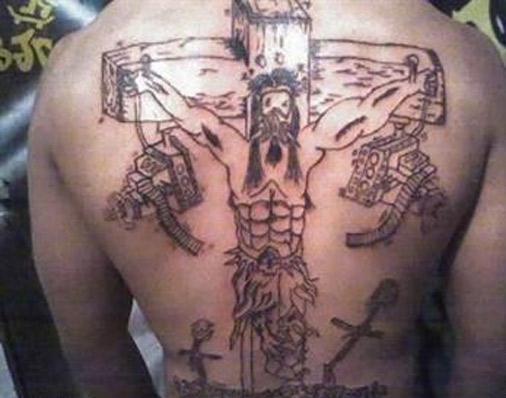 Weird-Bad-Jesus-Tattoo-Six-Pack