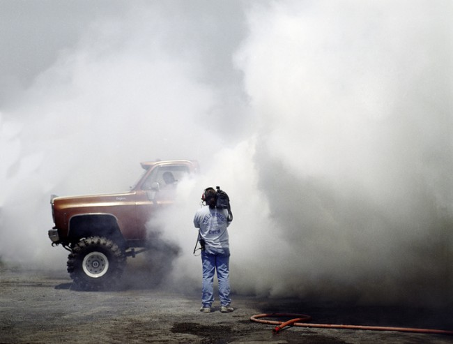 Tire burnout competition, New York