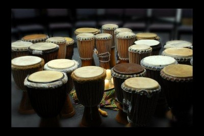 Most of us associate ritualistic music with some form of drum rhythms.
