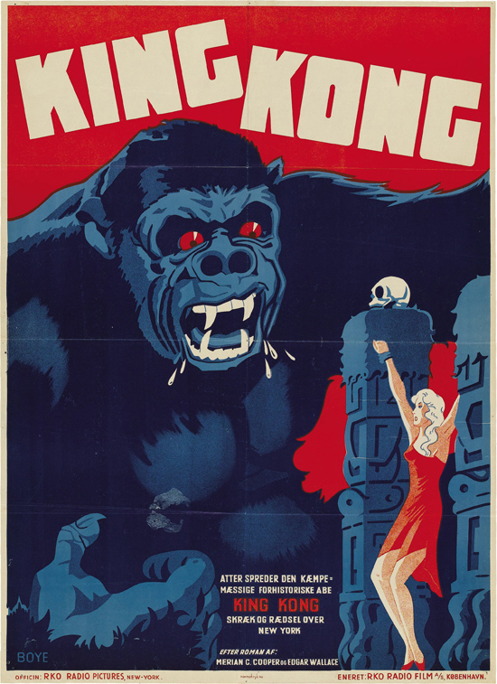 King_Kong_1933_Danish_movie_poster