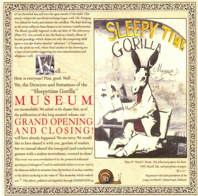 Sleepytime Gorilla Museum's debut album, Grand Opening and Closing