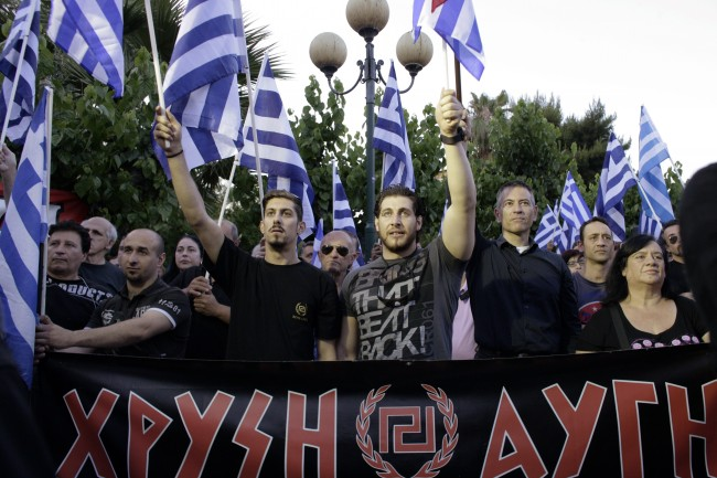 Far Right Party Golden Dawn Hold A Rally Ahead Of The EU Elections