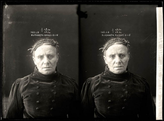 Elizabeth Ruddy, 5 January 1915 Elizabeth Ruddy was a career criminal who was convicted of stealing from the house of one Andrew Foley. She was sentenced to 12 months with hard labour. DOB: 1854, Scotland.