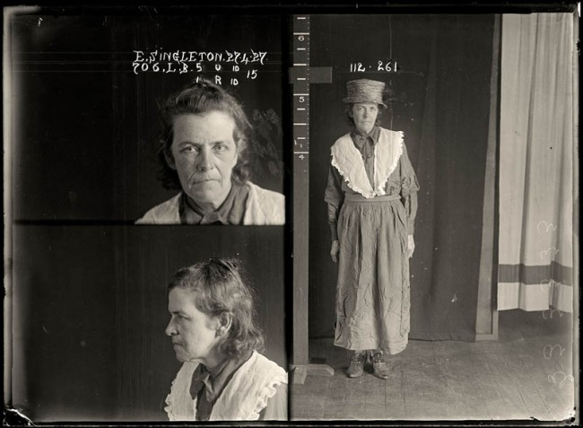 Elizabeth Singleton, 27 April 1927 Elizabeth Singleton had multiple convictions for soliciting and was described in police records as a 'common prostitute'. She was imprisoned at Long Bay but the details of her sentence have been lost. DOB: 9 July 1905.