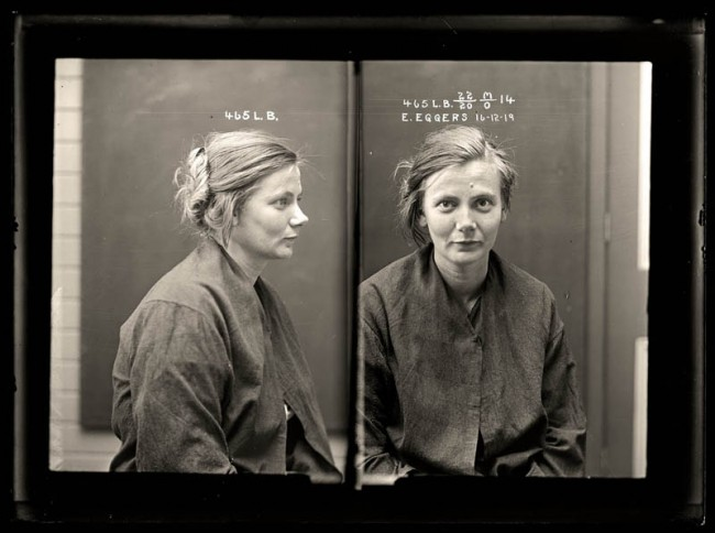 Esther Eggers, 16 December 1919 Crime: malicious injury to property and wounding with intent to do grievous bodily harm. When a police officer arrived to arrest Esther Eggers for malicious damage she attacked him, causing serious injury. Eggers was sentenced to 12 months prison. Aged 22.