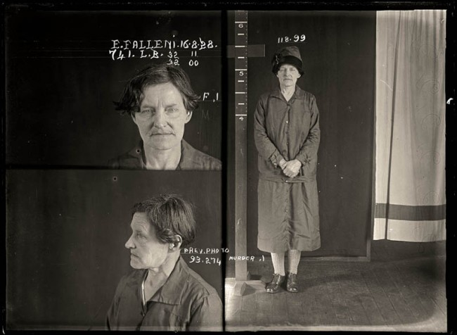 Eugenia Falleni, alias Harry Crawford, 16 August 1928 Convicted of murder. Eugenia Falleni spent most of her life masquerading as a man. In 1913 Falleni married a widow, Annie Birkett, whom she later murdered. The case whipped the public into a frenzy as they clamoured for details of the 'man-woman' murderer. Aged approximately 43.