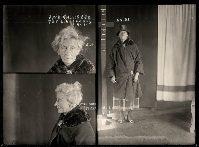 Janet Wright, 16 February 1922 Convicted of using an instrument to procure a miscarriage. Janet Wright was a former nurse who performed illegal abortions from her house in Kippax Street, Surry Hills. One of her teenage patients almost died after a procedure and Wright was prosecuted and sentenced to 12 months hard labour. Aged 68.