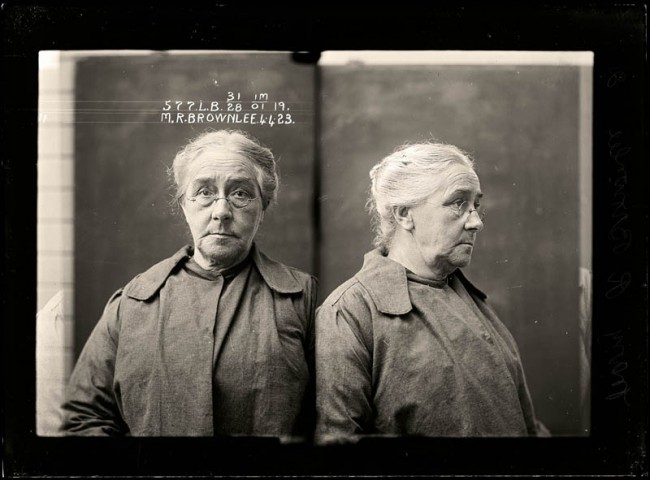 Mary Rubina Brownlee, 4 April 1923 Convicted of unlawfully using an instrument to procure a miscarriage. Mary Brownlee was a backyard abortionist who was caught during an extensive police investigation. She was sentenced to 12 months light labour, but her male accomplice was acquitted. Aged 64.